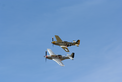 Mustangs Flying During Breighton Airshow