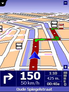 picture of TomTom in 3D navigation mode