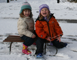 Emma and Ruby on sledge